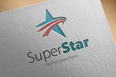 Check out Super Star Logo by samedia on Creative Market Political Logos, Star Logo, Logo Design, Graphic Design, Corporate Branding, Super Star, Modern Logo, Logo Templates, Stars