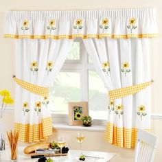 Yellow Kitchen Curtains – Bought curtains are often common and are available in limited colors. Make your kitchen curtains with […] Decor, Sunflower Kitchen, Yellow Kitchen, Interior, Kitchen Curtains, Curtains Ready Made, Home Decor, Country Kitchen, Yellow Kitchen Curtains