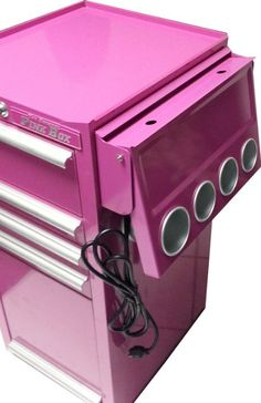 ✂️Stylist Equipment, The Original Pink Box Power Shelf for Salon Cart, Portable Station✂️ Home Hair Salons, Home Salon, Salon Cart, Grooming Salon, Dog Grooming, Salon Business, Pink Power, Salon Style, Salon Design