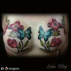23 Beautiful Mastectomy Tattoos That Are So Much More Than Just Ink Cool Chest Tattoos, Chest Piece Tattoos, Chest Tattoos For Women, Pieces Tattoo, Body Art Tattoos, Tatoos, Tattoos To Cover Scars, Scar Tattoo, Cover Tattoo