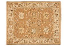 One Kings Lane - Pattern & Texture Time - Younis Soumak Rug, Copper/Beige