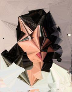 Generative portrait by Sergio Albiac