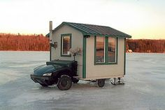ice fishing shack ideas Tell matt jeff wants to build one of these hahaha Ice Fishing Shanty, Ice Shanty, Ice Fishing Huts, Fishing Shack, Slide In Camper, Ice Houses, Fish Camp, Outdoors, Campers
