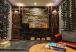 Wine Cellar Roasted Walnut & Metal Racking