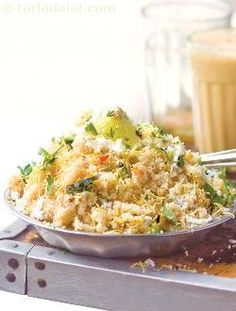 Upma, an extremely common yet lovable south indian snack, upma is a popular breakfast choice in mumbai too, quite affordable at rs 6 per serving, the tasty upma is served in small stainless steel quarter plates, garnished with coriander and coconut, along with mini wedges of lemon.