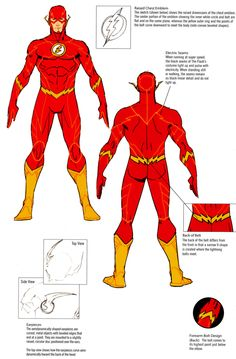 New 52 Flash character reference by Francis Manapul & Jim Lee