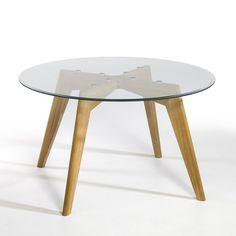 Table ronde Kristal verre et chêne AM.PM