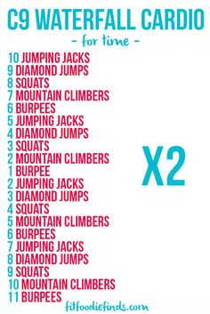 Waterfall Cardio Workout