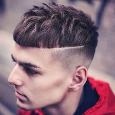 High Bald Fade + Line in Hair + Short Mushroom Top Man Bun Hairstyles, Cool Hairstyles For Men, Haircuts For Men, Style Hairstyle, Bald Fade, Mushroom Cut Hairstyle, Skin Fade With Beard, A Line Hair, Look 2018