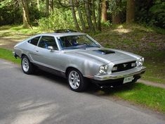 1974 Ford Mustang II Specs, Photos, Modification Info at CarDomain Mustang Mach 2, Ford Mustang Shelby Cobra, Classic Mustang, Ford Classic Cars, Car Ford, Ford Trucks, Mustang Hatchback, Mustang Emblem, Pony Car