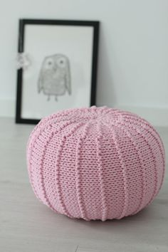 Something cute for you cozy home:) The pouffe is knitted with 100% cotton cord in a beautiful pink color. Material: cotton cord, polystyrene stocking bag and polyester beans Dimensions: approx. 37-40cm/15-16 (Ø) x 25cm/10 (H)  I always try to describe my items as accurate as possible. I provide detailed information about used materials and the product dimensions. Please make sure that the item you would like to order meets your expectations. I always try to show the actual colors of my…