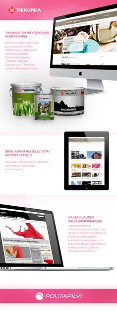 Poutapilvi uudisti Tikkurilan verkkopalvelut osittain responsiiviseksi ja freesiksi kokonaisuudeksi.   #responsive #responsivewebdesign #webdesign #website #graphic #ui