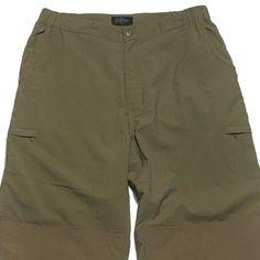 RailRiders Nylon Pants XL Bushwacker Cargo Hiking Climbing Green Security Men  | eBay