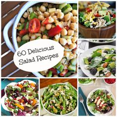60 Deliciously Fresh Salad Recipes: Mix up the salad routine with these 60 amazing salad recipes // A Cedar Spoon