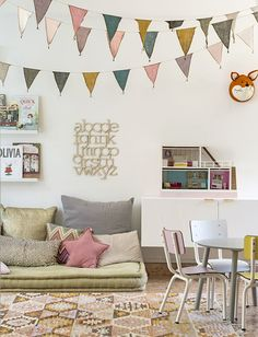 Get inspired with kids bedroom, kids' playroom ideas and photos for your home refresh or remodel. Wayfair offers thousands of design ideas for every room in every style. Playroom Decor, Kids Decor, Home Decor, Playroom Ideas, Colorful Playroom, Nursery Ideas, Playroom Lounge, Bedroom Ideas, Kid Playroom