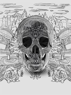 Mexican Skull Roses