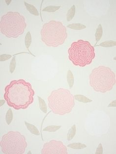 Such a sweet wallpaper for a little girls' room.