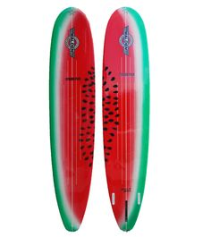 watermelon surfboards by Walden Surfboard Art, Skateboard Art, Watermelon Patch, Moving To Hawaii, Surf Decor, Surf Design, Summer Surf, Learn To Surf, Hang Ten