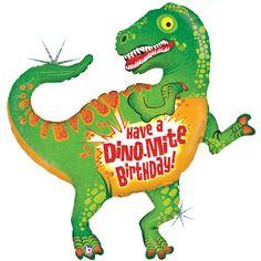 Party Supplies Giant Dinosaur Balloon Dinomite Happy Birthday T Rex W Free Ribbon Included Garden