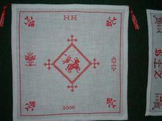 Rugs, Home Decor, Monogram, Lamb, Basket, Hand Crafts, Seed Stitch, Linen Fabric, Farmhouse Rugs