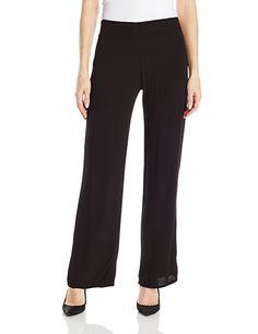 Monrow Women's Flowy Crepe Pant, Black, XS ** Buy now: http://amzn.to/2iMJCSu