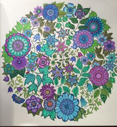 Johanna Basford, Gel Pens, Adult Coloring, Colouring, Color Inspiration