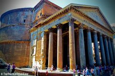 Pantheon, Rome, Italy - The Pantheon is a magnificent ancient temple in Rome that was later converted into the church of Santa Maria ad Martyres. Dating from 125 AD, this is the most complete ancient building in Rome and one of the city's most spectacular sights.