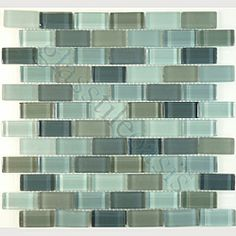 Would be awesome in a bathroom--great colors. Love me some glass mosaics.