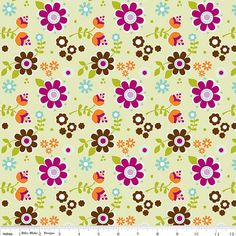 CLEARANCE SALE Little Matryoshka Floral Green by spiceberrycottage, $5.50