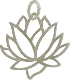 Sterling Silver Lotus Flower Pendant