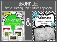 This is a bundle of the following two products:Arkansas State History UnitArkansas State Lapbook and Interactive NotebookYou may also like... Arkansas State NotebookArkansas State History UnitArizona State History Unit and State Notebook {BUNDLE}