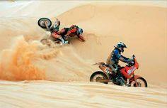caidas en moto rally dakar