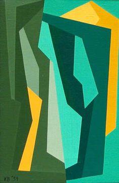 """""""Interlocking Forms"""" by Karl Benjamin, 1959"""