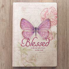 Botanic Butterfly Blessings Silk Flexcover Journal   Christian Art Gifts