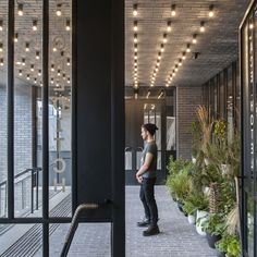 Ace Hotel London | Universal Design Studio Love the lights on the ceiling
