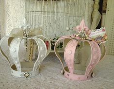 shabby chic crowns