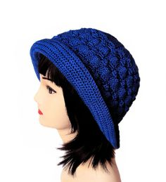 Hey, I found this really awesome Etsy listing at https://www.etsy.com/listing/129869035/womens-knit-hat-hand-knit-purple-blue