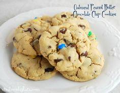 Chocolate Chip Peanut Butter Oatmeal Cookies on MyRecipeMagic.com