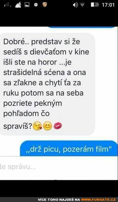 Dobrá... představ si, že sedíš s dívkou v kině... Film, Funny, Humor, Movie, Film Stock, Cinema, Funny Parenting, Films, Hilarious