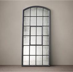 1930s American Factory Window Mirror