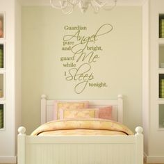 Guardian Angel Pure And Bright Guard Me Whole... Quote Wall Sticker - Angels & Wings - Fantasy