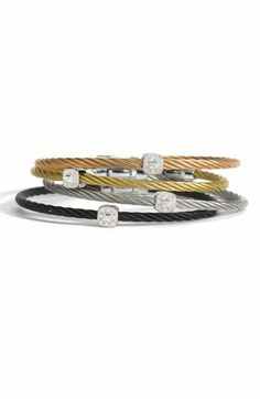 Birthday: Charriol 'Nautical Cable' Diamond Station Bracelet (Save 28% on 2) available at #Nordstrom