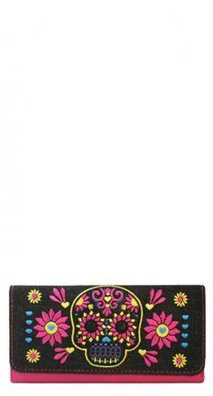 Sugar Skull Flower Wallet