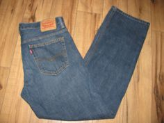 Levis 569 Mens Levi Blue Jeans 34X34 Loose Straight Fit #Levis #LooseFitStraightLeg