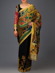 Andhra Women Kalamkari Mangalgiri Cotton Saree
