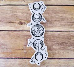 Moon Phases Vintage Celestial Iron On Embroidery Patch MTCoffinz - Choose Size / Color 4 Tattoo, Witch Tattoo, Print Tattoos, Star Tattoos, Sleeve Tattoos, Cool Tattoos, Iron On Embroidery, Embroidery Patches, Embroidered Patch