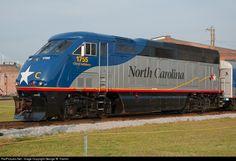 RailPictures.Net Photo: NCDOT 1755 North Carolina Department of Transportation EMD F59PH at Spencer, North Carolina by George W. Hamlin