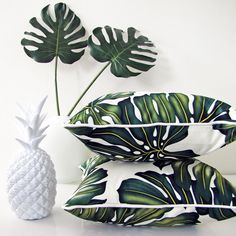 Beautiful tropical leaf cushions | escapetoparadise.com.au