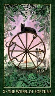 Forest Folklore Tarot Wheel of Fortune.  It's all about L-U-C-K!