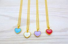 Tiny Necklace, Simple Necklace, Necklaces, Heart Bracelet, Heart Earrings, Gold Heart Ring, Tiny Heart, Necklace Lengths, Gifts For Friends
